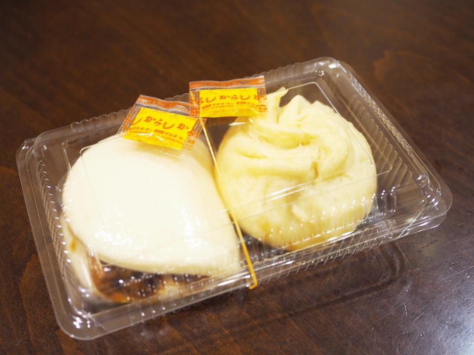 肉汁豚まん、神戸角煮バーガー@朋榮