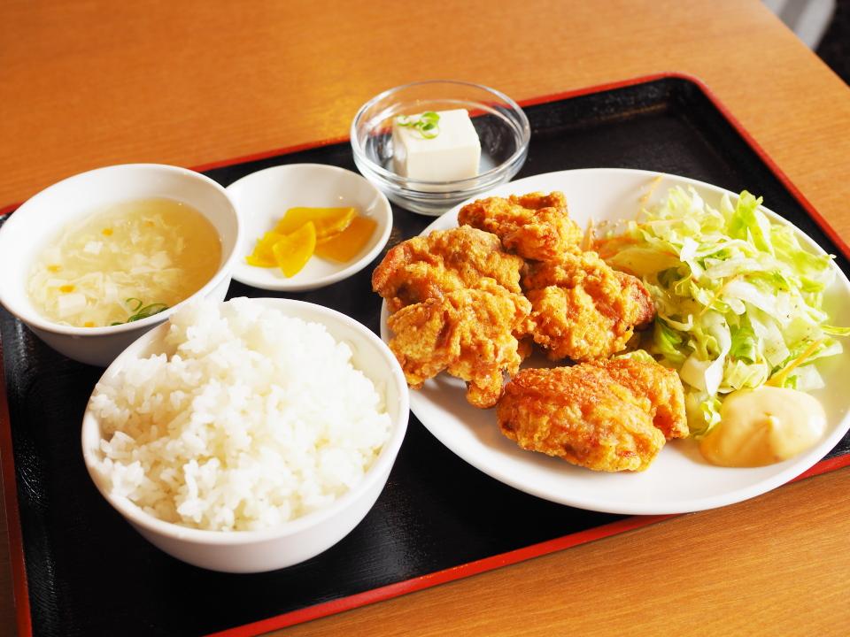 若鶏の唐揚げ定食@純華楼・上本町