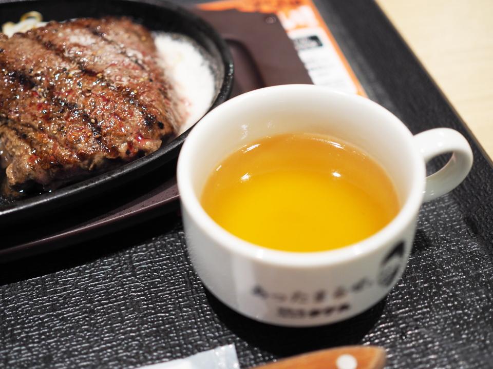 ロースステーキ、Aセット@1ポンドのステーキハンバーグ タケル・阪急三番街店