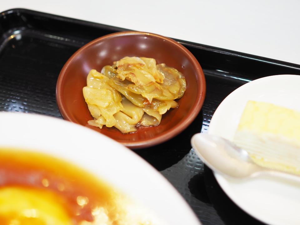 日替定食(天津飯とエビ天の甘酢)@パウパウ