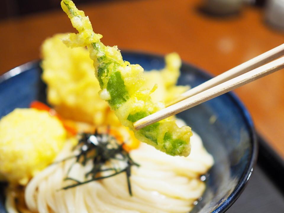 ししとうの天ぷら@饂飩とお酒・からほり・きぬ川