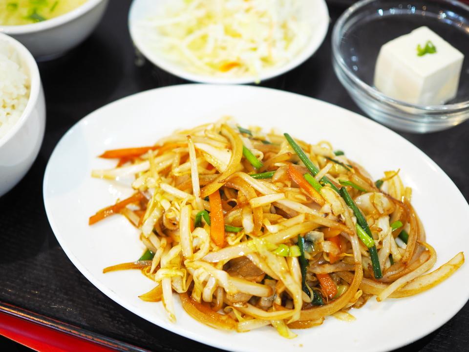 ランチメニュー・五目野菜の炒め@純華楼