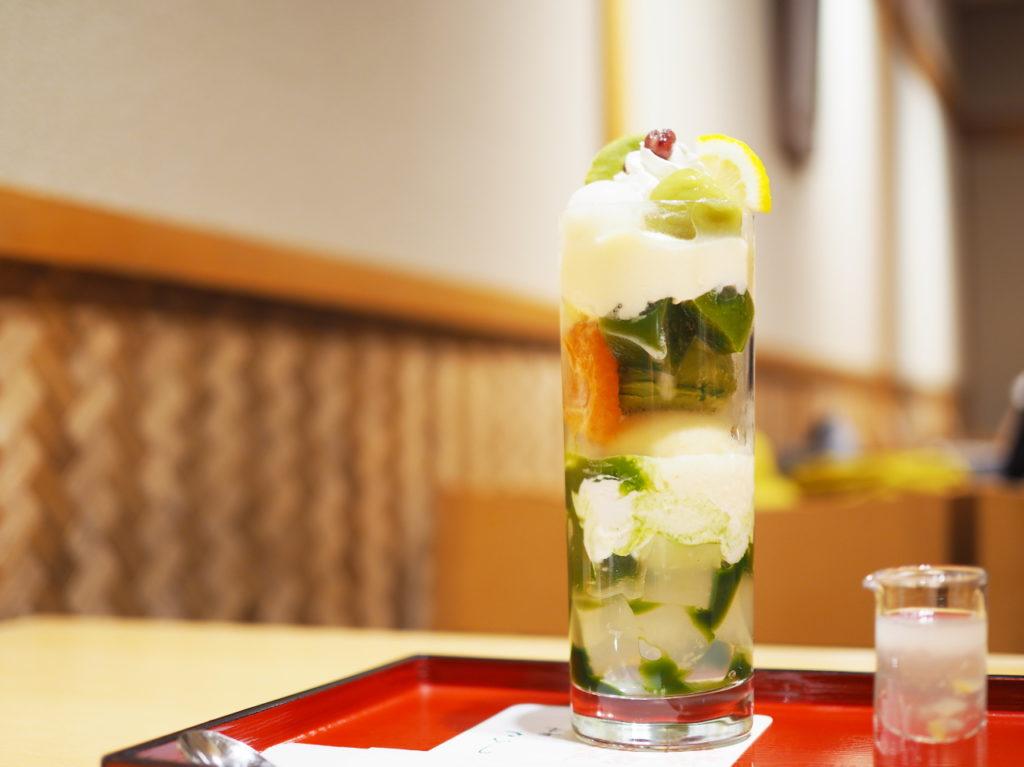 恋する檸檬の抹茶パフェ@茶房こいし