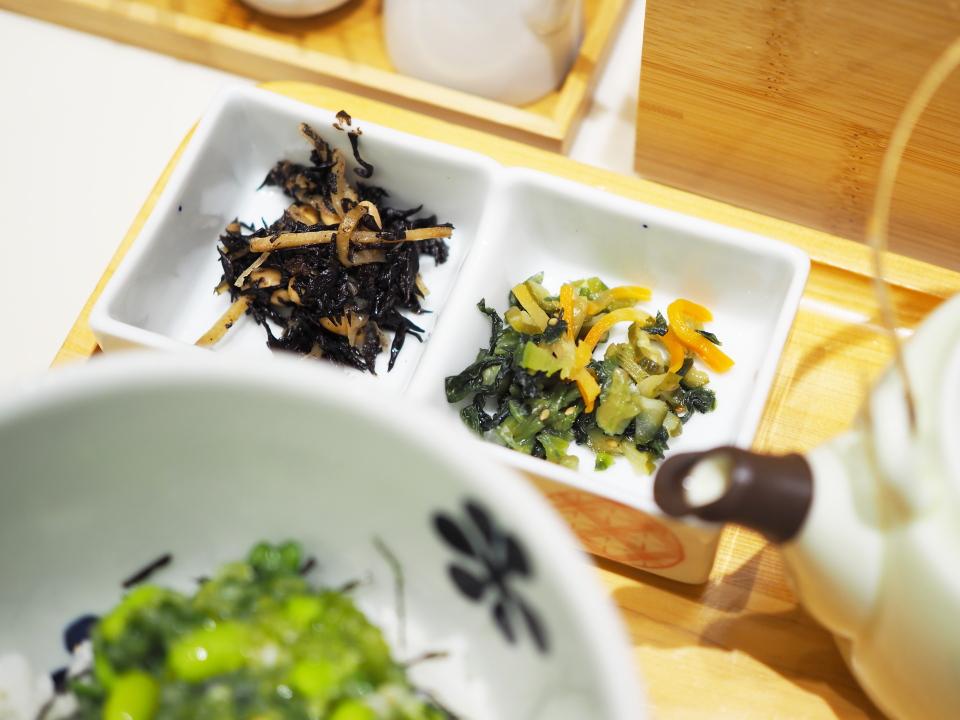 山形だしと湯葉ちりめん@だし茶漬け+肉うどん・えん・ルクア大阪店
