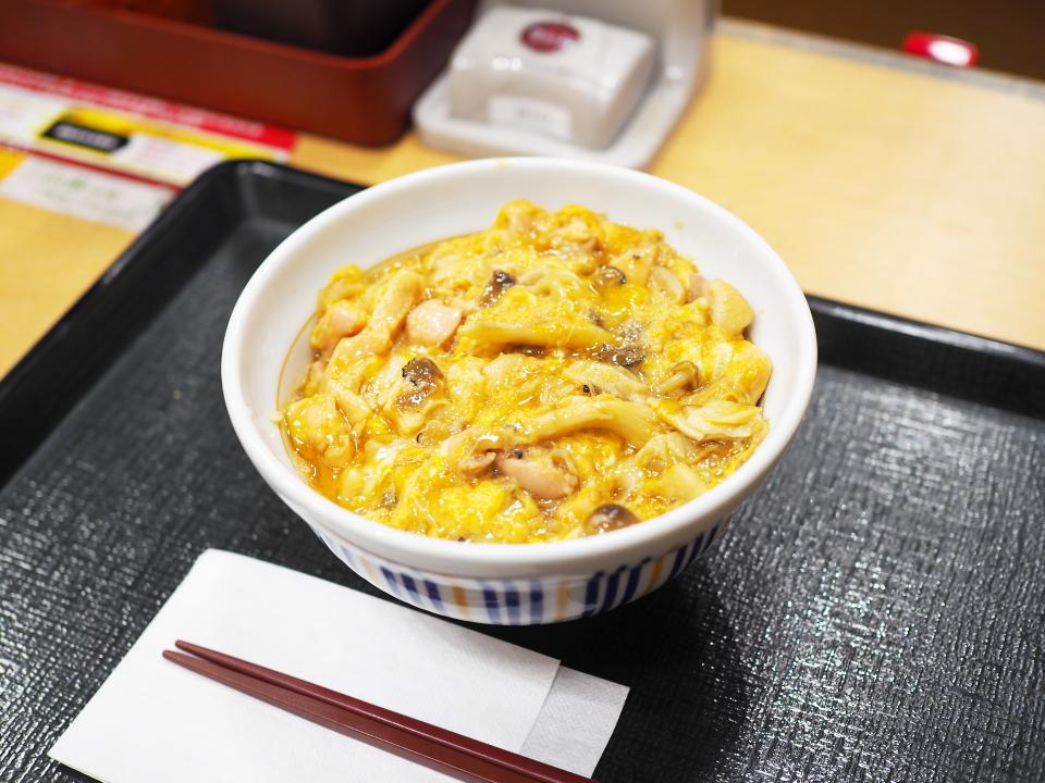 トリュフ薫るきのこの親子丼@なか卯・堺筋博労町店