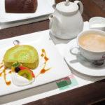 ケーキセット(お抹茶ロール、紅茶・ホット)@よーじやカフェ・祇園店