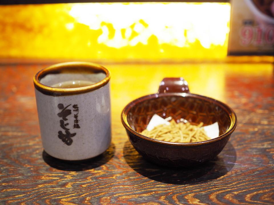 お茶とそばかりんとう@信州そば処・そじ坊