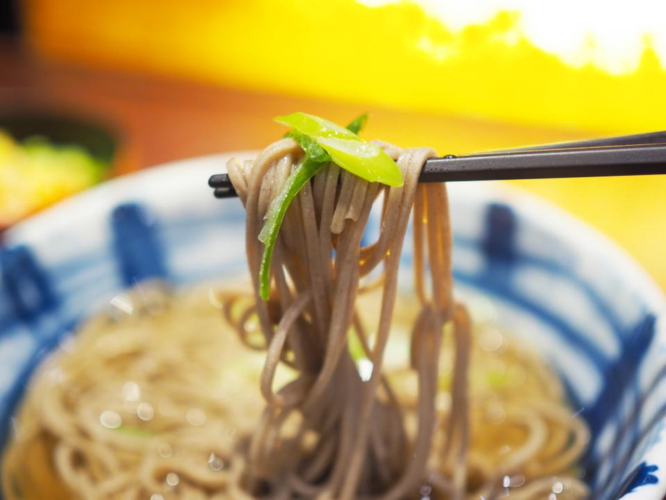 麺リフトwithネギ@信州そば処・そじ坊