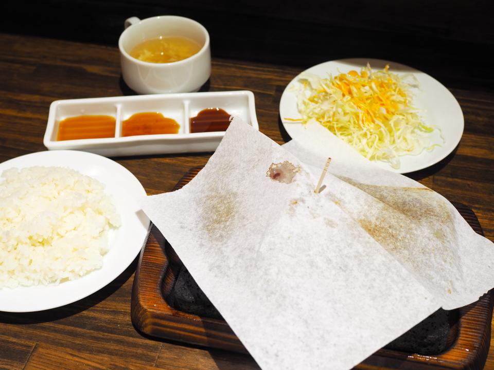 イチボステーキ150gとご飯・サラダ・スープ@やっぱりステーキ