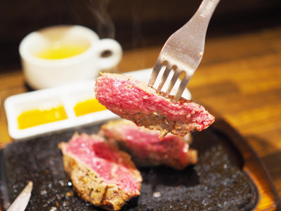 イチボステーキ150gの肉リフト@やっぱりステーキ