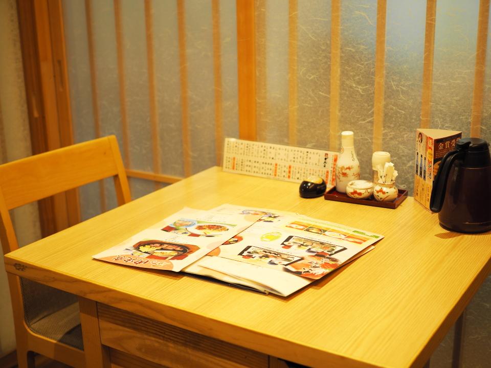 テーブル席@がんこ寿司・天満橋店