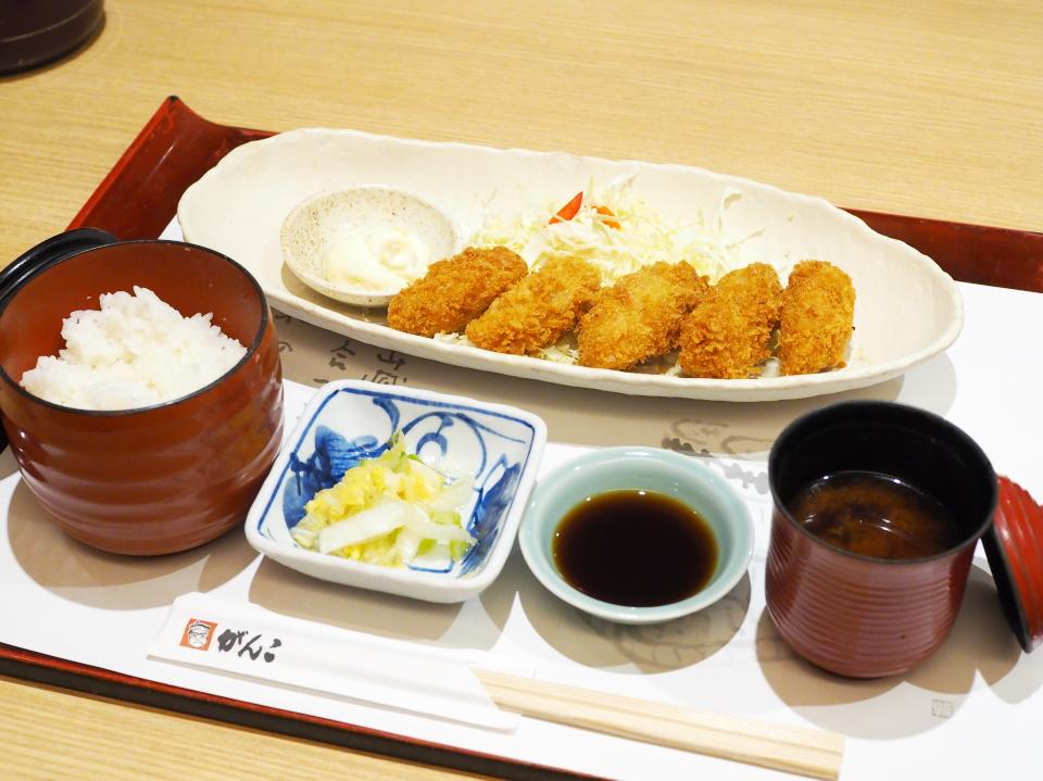 かきフライ定食(赤だし付)@がんこ寿司・天満橋店