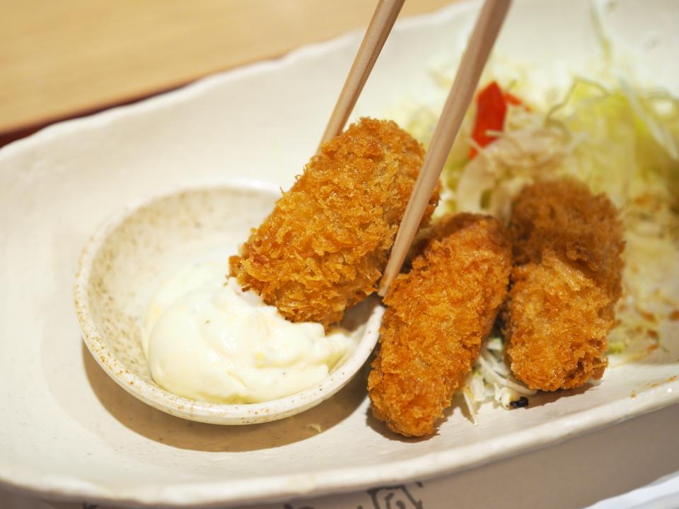 かきフライ定食のタルタルソース@がんこ寿司