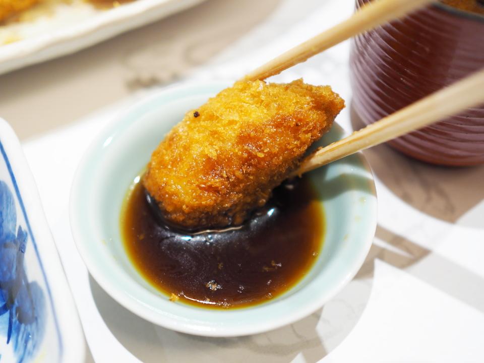 かきフライ定食のポン酢@がんこ寿司