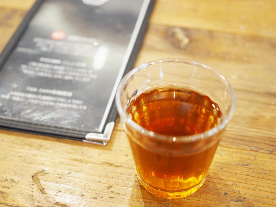 お茶とメニューと私@新潟カツ丼・タレカツ・京都本店
