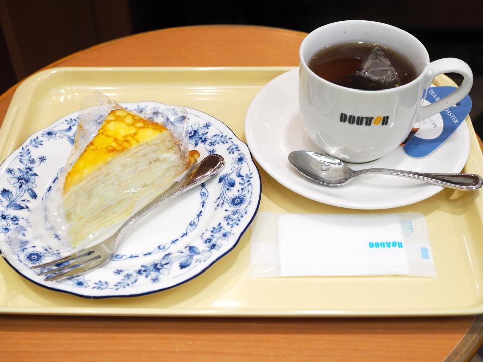 ケーキセット@ドトールコーヒーショップ