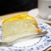 ケーキセットのミルクレープ@ドトールコーヒーショップ