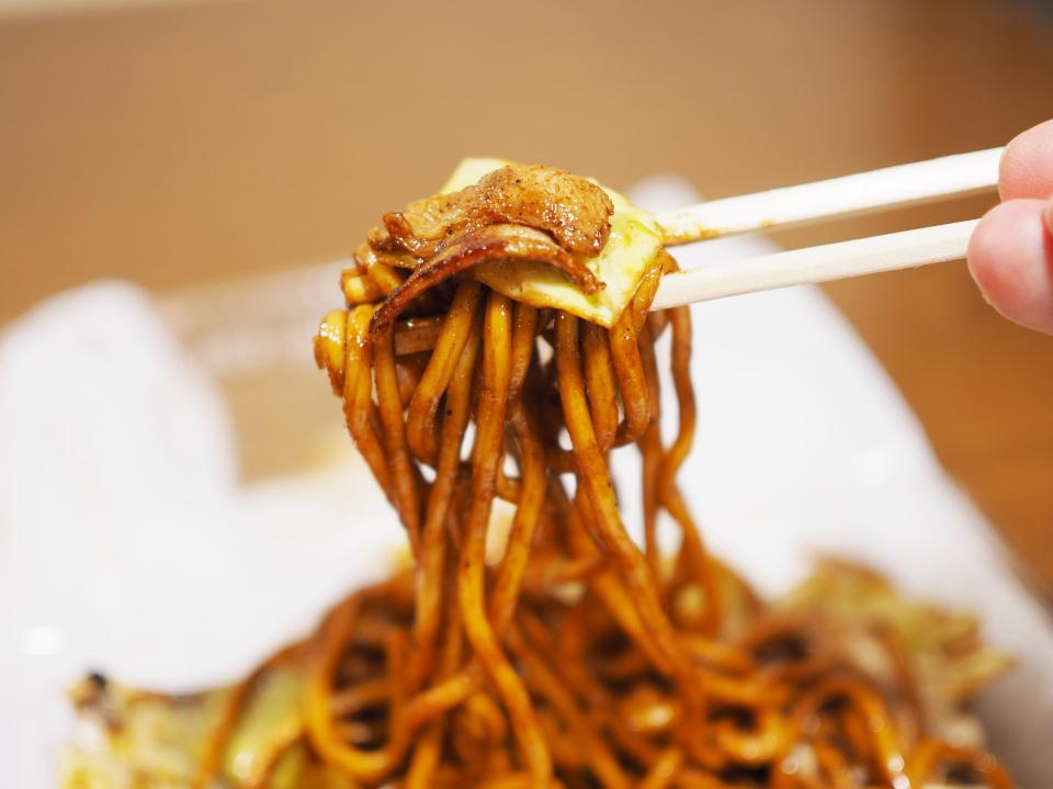 焼きそばの麺リフト@じゃんぼ総本店