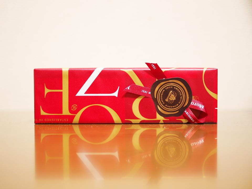プレーンチョコレートのラッピング@モロゾフ