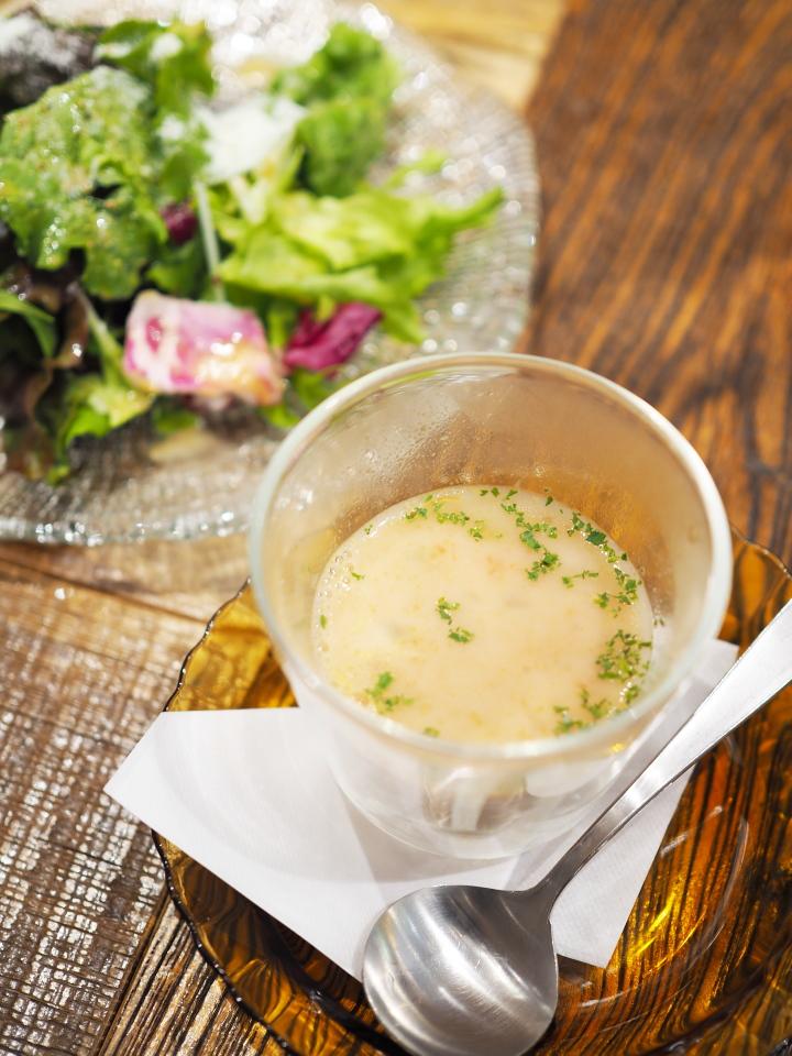 8種野菜のクリーミーミネストローネ@金星パスタカフェ