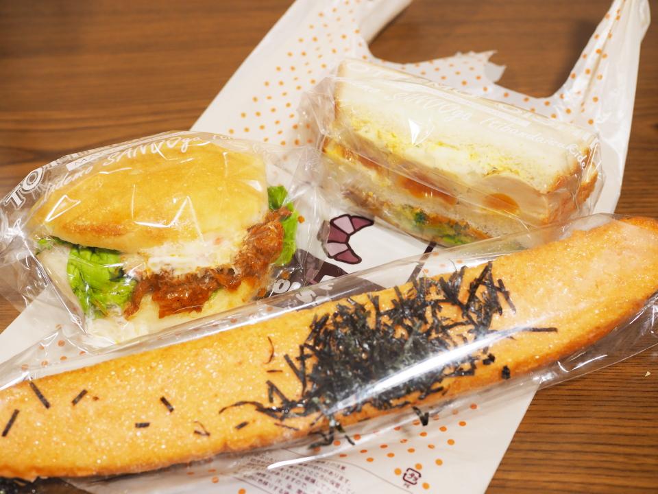サンドイッチとたっぷり明太スティック@ル・クロワッサン