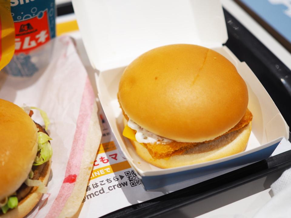 マクドナルドのフィレオフィッシュの値段