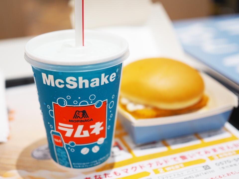 マクドナルドのマックシェイク森永ラムネの値段