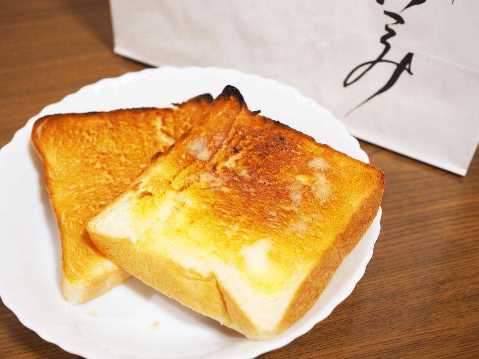 乃が美・はなれ・布施店の高級「生」食パン1斤でバタートースト