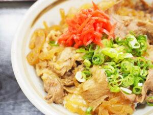 力餅・鴻池店のすき焼丼は牛肉たっぷり