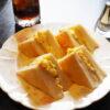 緑橋のコーヒー専門店・クレセントのランチサービス・トーストサンドイッチ