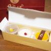 靖一郎豆乳・天満橋店の手作り豆乳プリン3種セット