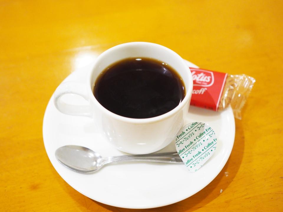 布施の喫茶店・カフェ・ド・ルワンジュのブレンドコーヒー