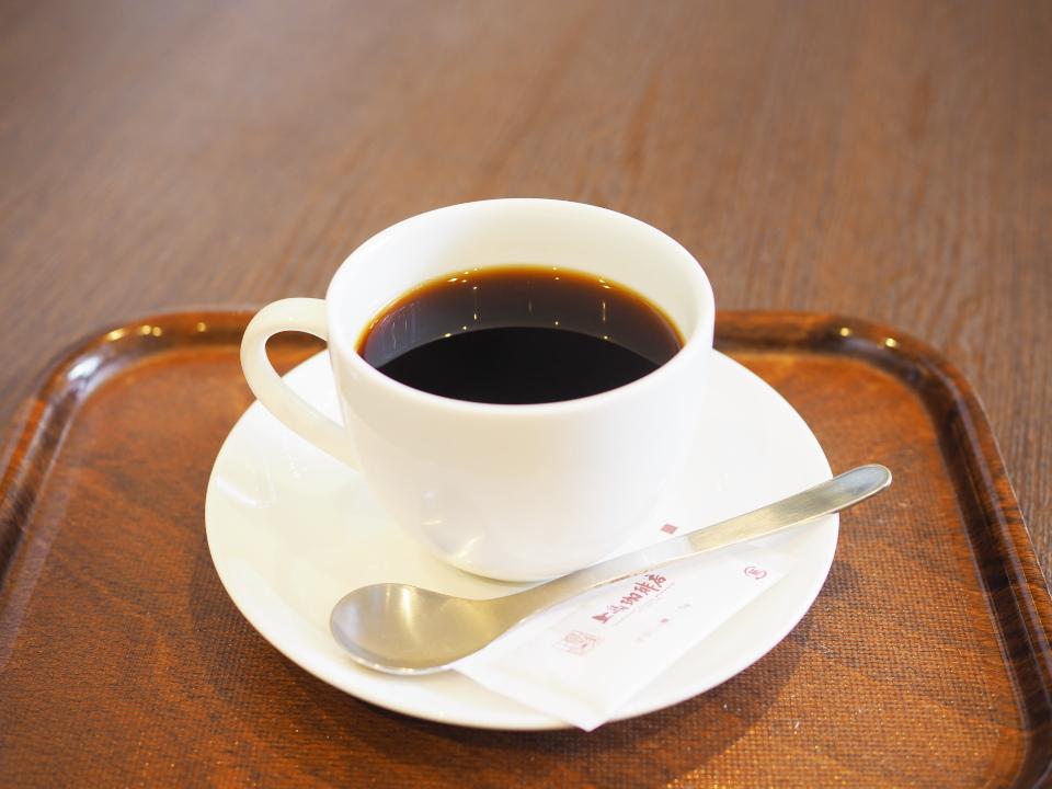 上島珈琲店・OBP店のネルドリップブレンドコーヒー