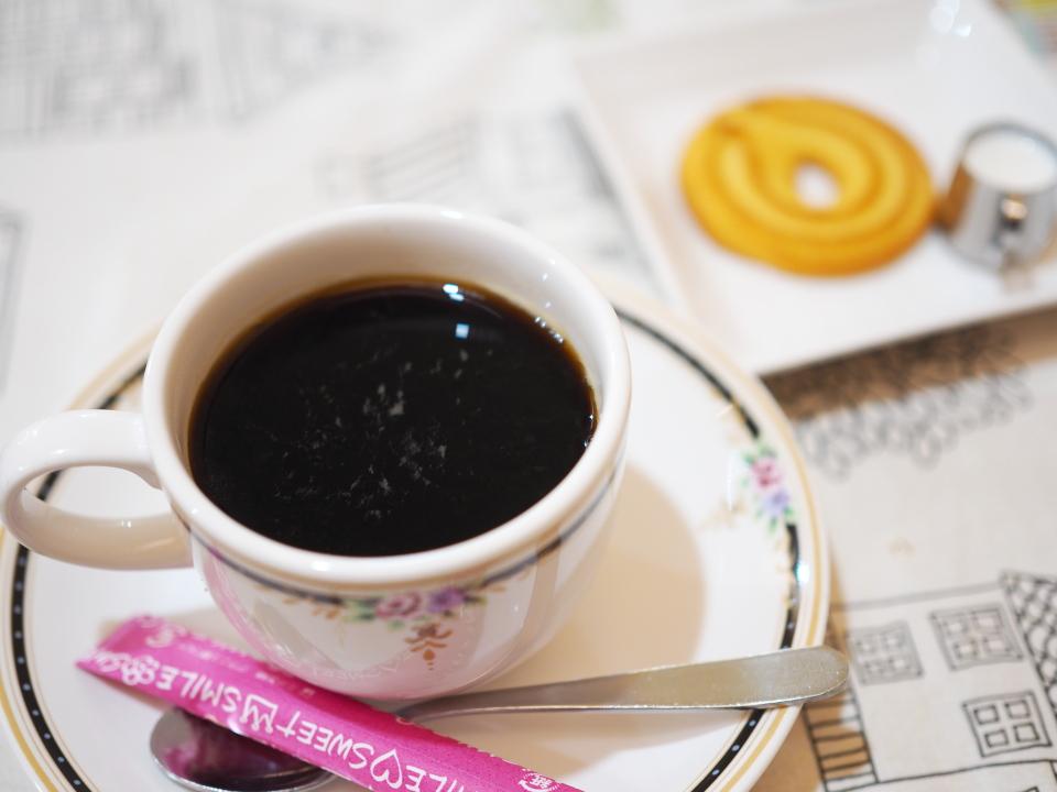 御菓子司・大力・ファミリーレストラン・オークラのホットコーヒー
