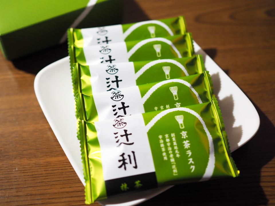 辻利・宇治本店の京茶ラスクは抹茶チョコレート味