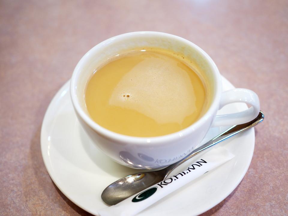 珈琲館のカフェインレスミルクコーヒー