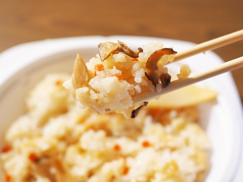 竹の子ごはん単品の他、竹の子御膳や竹の子弁当もあるほっかほっか亭