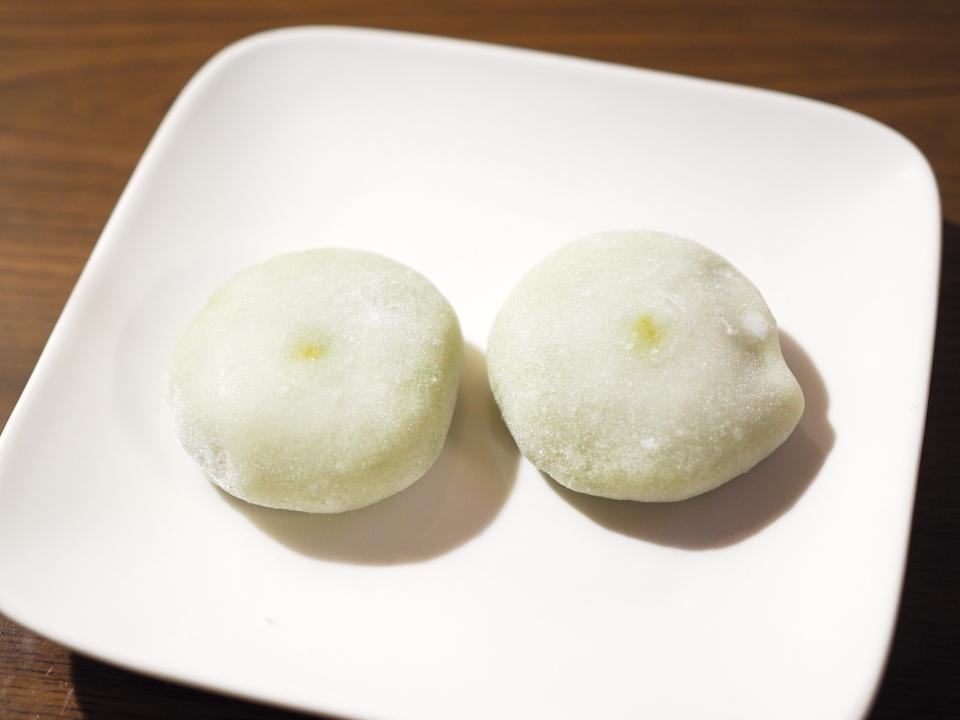 お茶の井ヶ田・喜久水庵のずんだ生クリーム大福は宮城県産のもち米「みやこがね」使用
