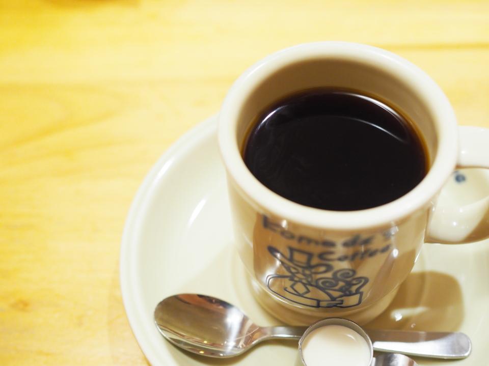 珈琲所コメダ珈琲店・今福鶴見店はカフェインレスコーヒーも扱います