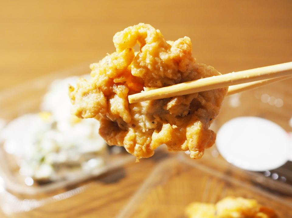 オリジン弁当の若鶏の唐揚げ (塩ガーリック味)