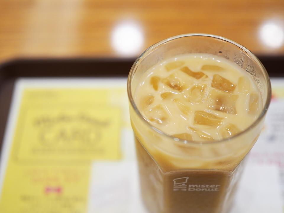 ミスタードーナツの小阪ショップはカフェインレスを扱います