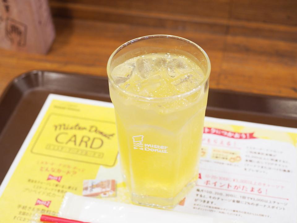 ミスタードーナツの青森県産ふじりんご・100%ジュース