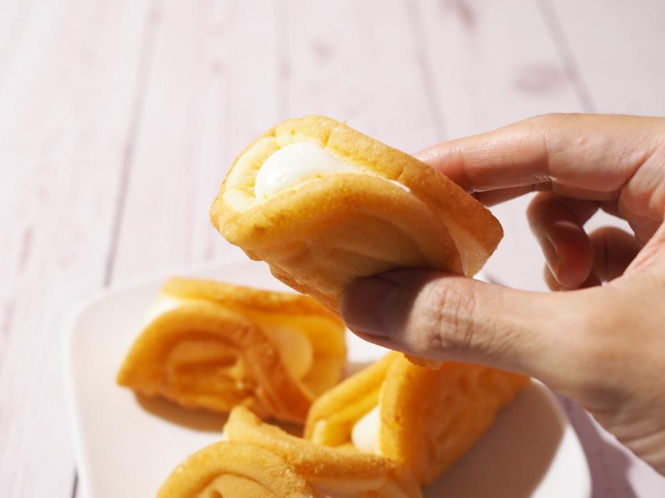 岡山総社市に販売店があるモンテールのワッフルは牛乳と卵と中心とした素材の美味しさ