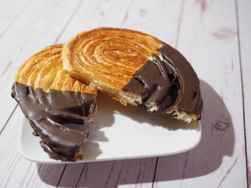 小麦の郷のパルミエにはチョコがコーティング