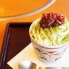 和食さとのお濃茶ドルチェはゆであずき、ホイップクリーム、宇治抹茶ゼリーが特徴
