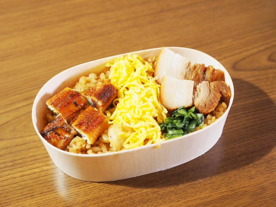 えどがわの豚バラあぶり焼うなぎ錦糸丼